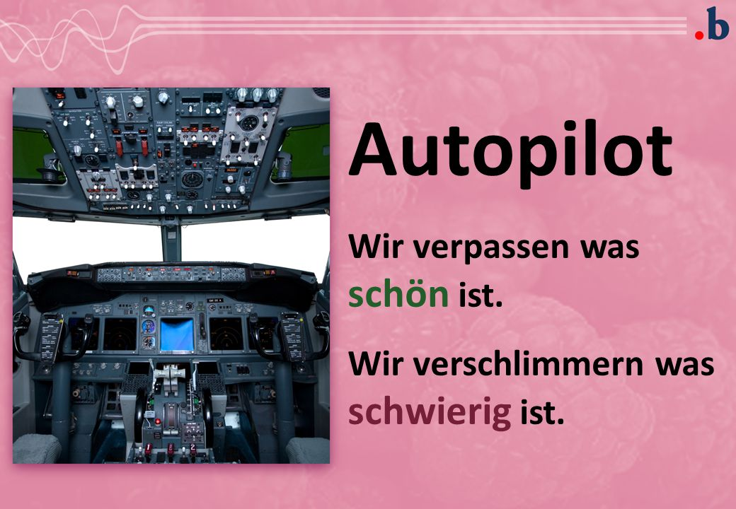 Autopilot Wir verpassen was schön ist.