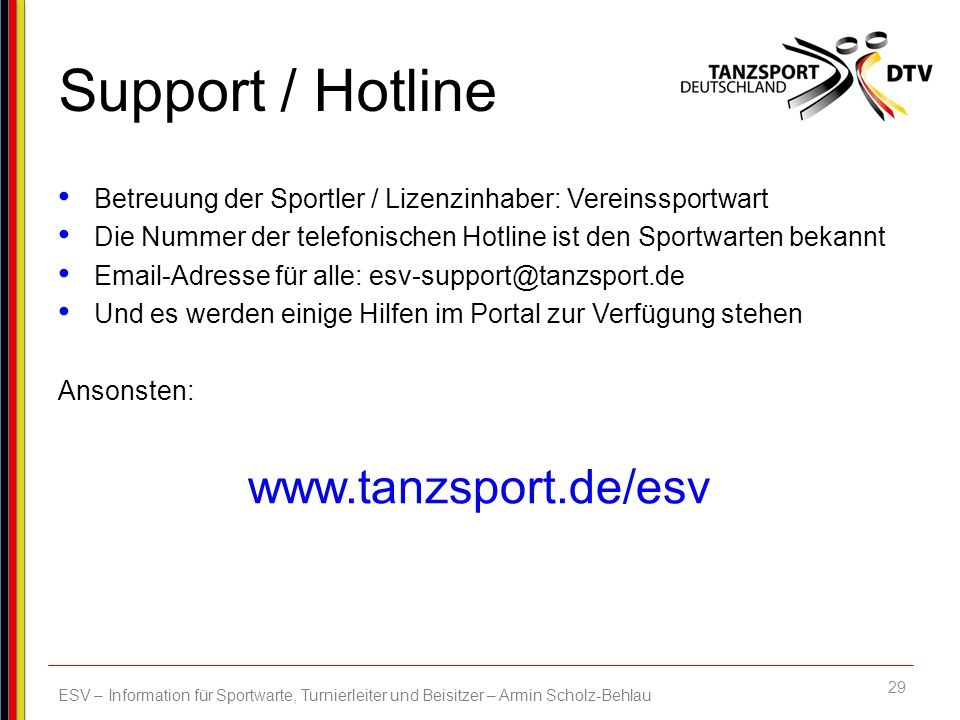 Support / Hotline