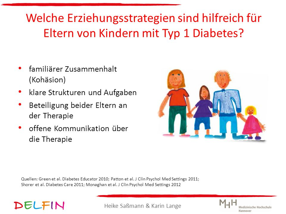 Welche Erziehungsstrategien sind hilfreich für Eltern von Kindern mit Typ 1 Diabetes