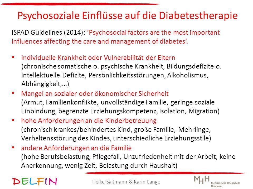 Psychosoziale Einflüsse auf die Diabetestherapie
