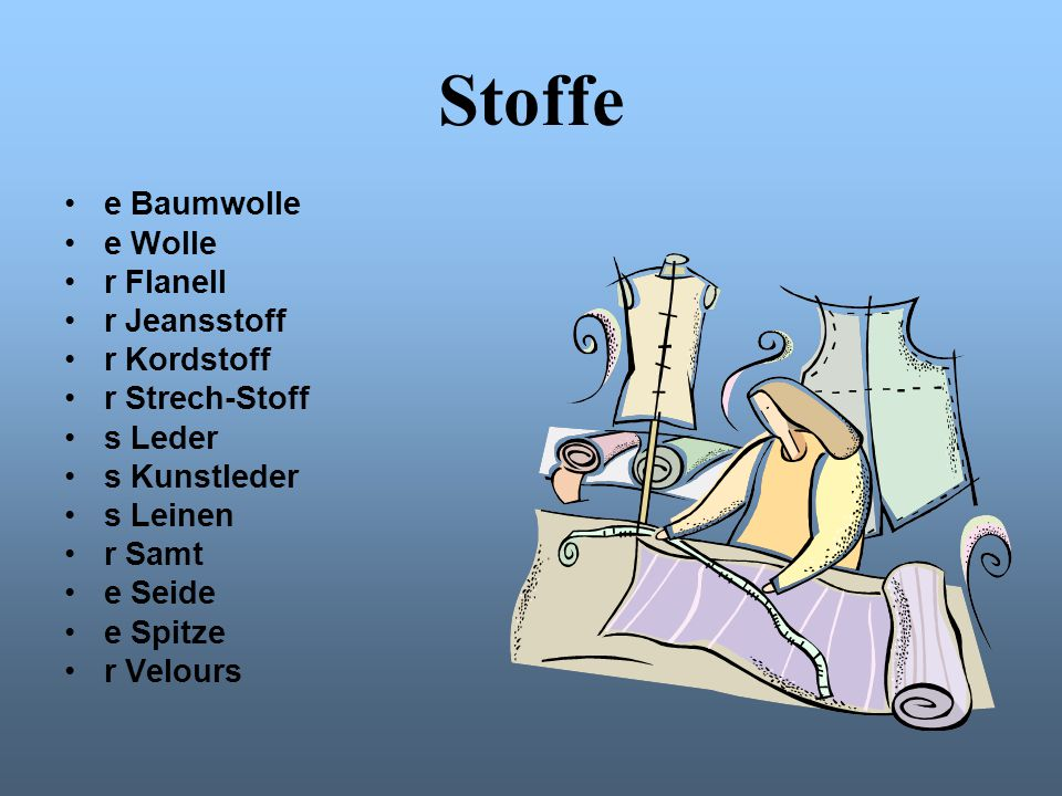 Stoffe e Baumwolle e Wolle r Flanell r Jeansstoff r Kordstoff