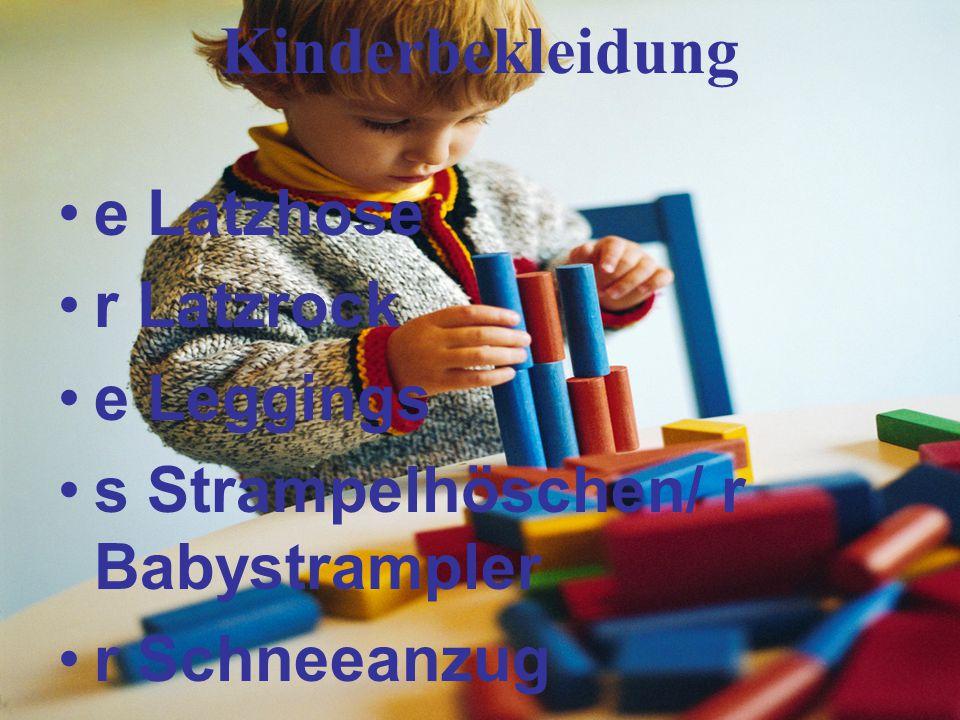 Kinderbekleidung e Latzhose r Latzrock e Leggings