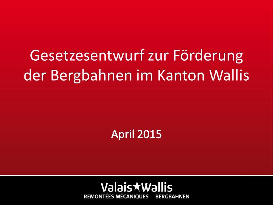 Gesetzesentwurf zur Förderung der Bergbahnen im Kanton Wallis