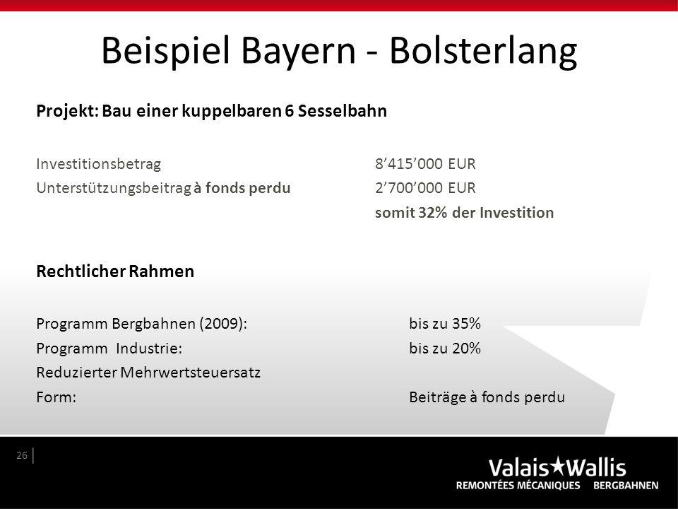 Beispiel Bayern - Bolsterlang