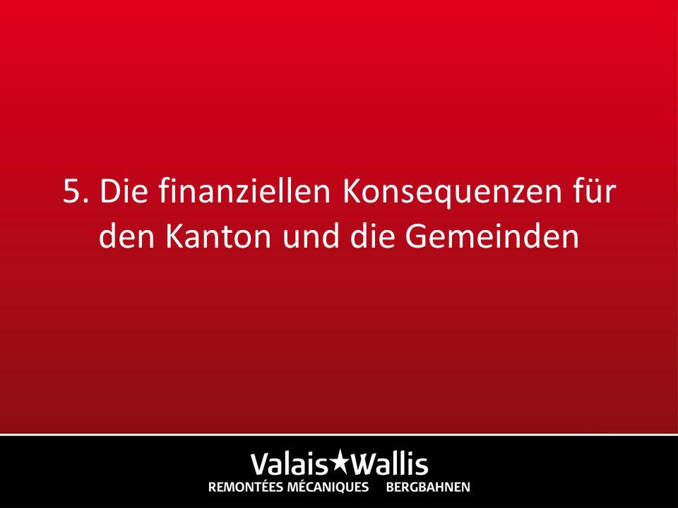 5. Die finanziellen Konsequenzen für den Kanton und die Gemeinden