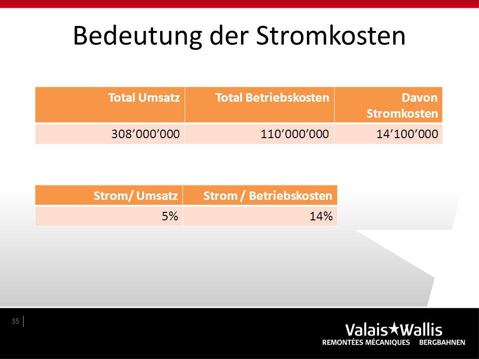 Bedeutung der Stromkosten