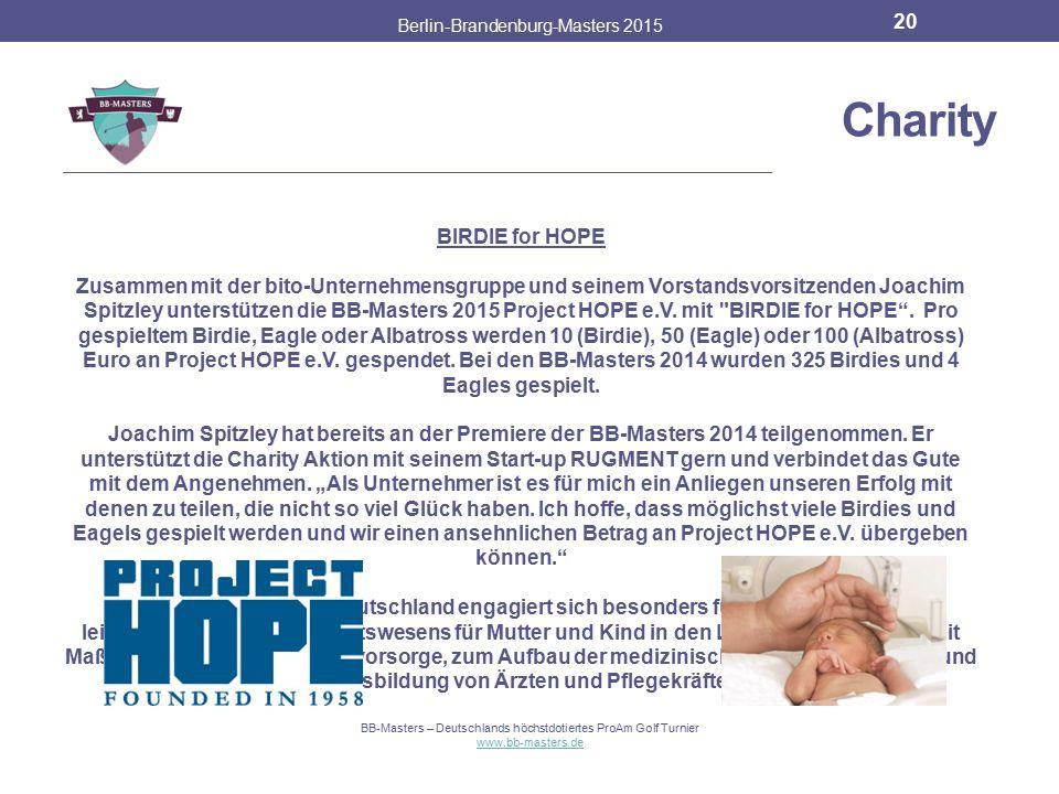 Charity BIRDIE for HOPE