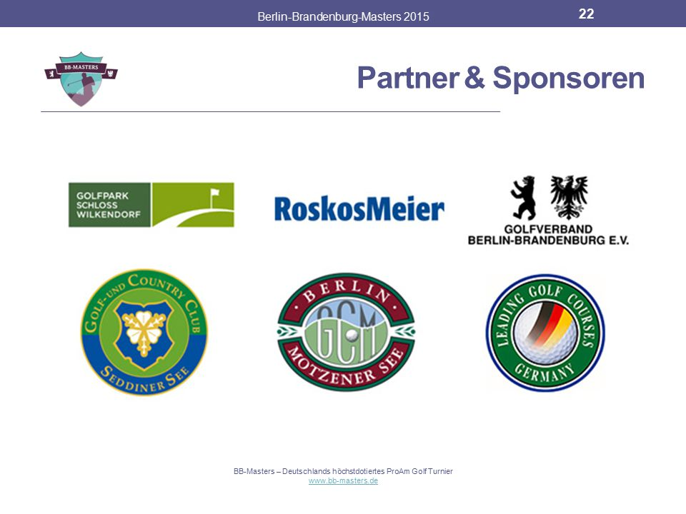 Partner & Sponsoren Berlin-Brandenburg-Masters 2015