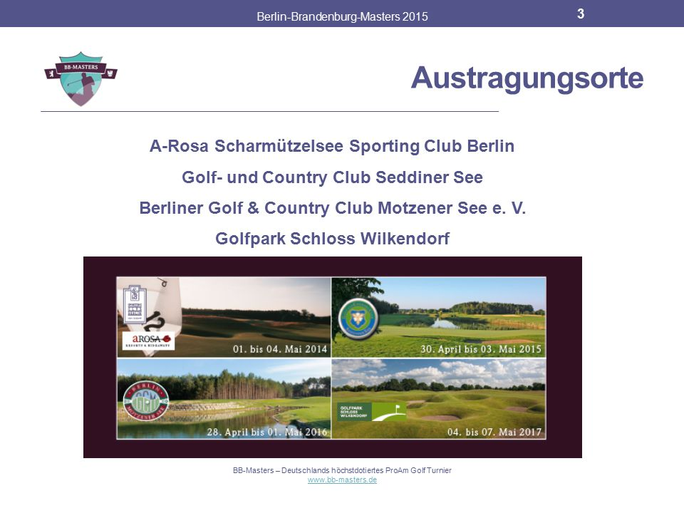 Austragungsorte A-Rosa Scharmützelsee Sporting Club Berlin