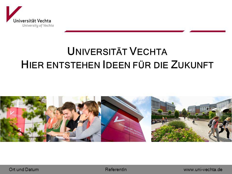Universität Vechta Hier entstehen Ideen für die Zukunft