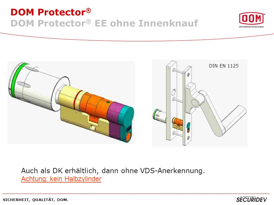 DOM Protector® EE ohne Innenknauf