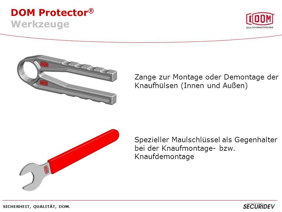 Werkzeuge Zange zur Montage oder Demontage der Knaufhülsen (Innen und Außen)