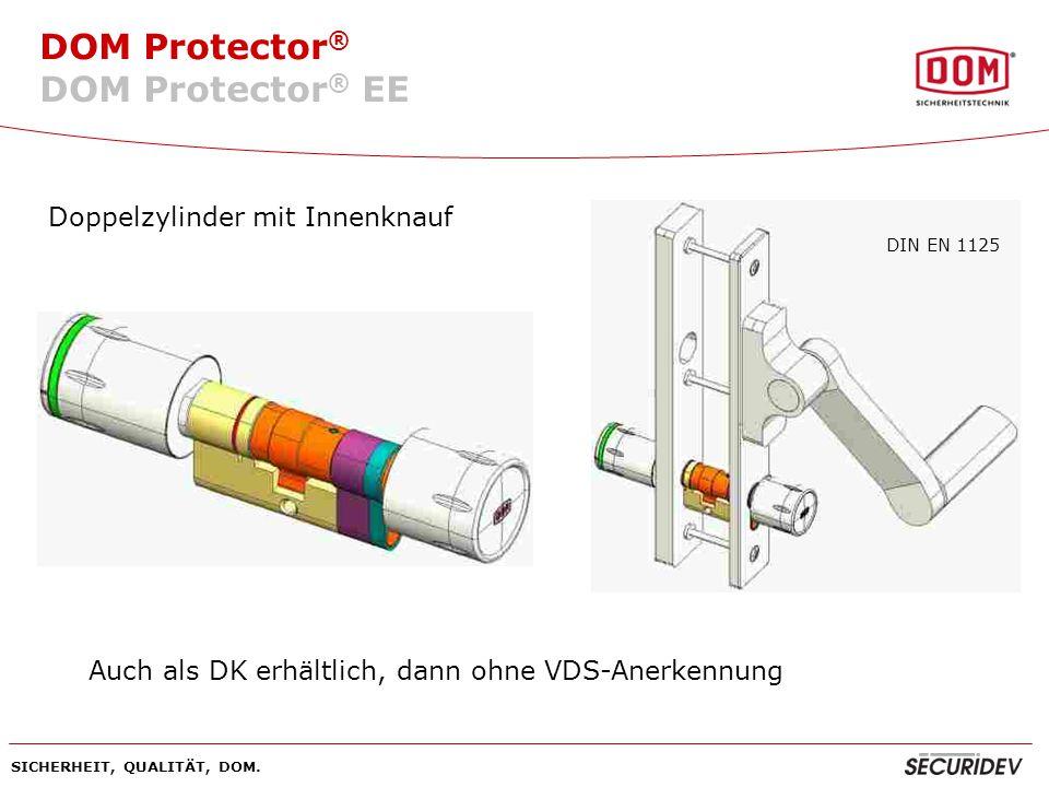 DOM Protector® EE Doppelzylinder mit Innenknauf