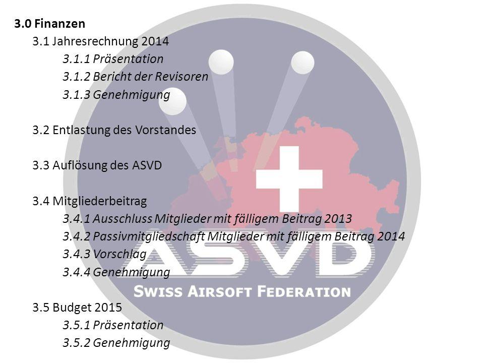 3. 0 Finanzen 3. 1 Jahresrechnung 2014 3. 1. 1 Präsentation 3. 1