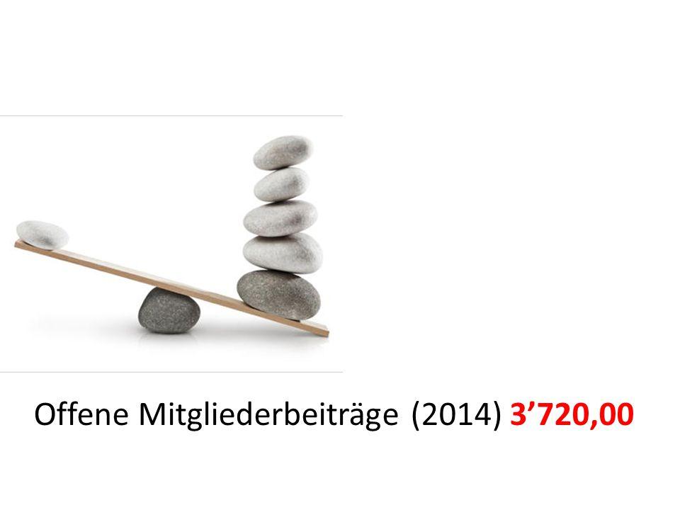 Offene Mitgliederbeiträge (2014) 3'720,00