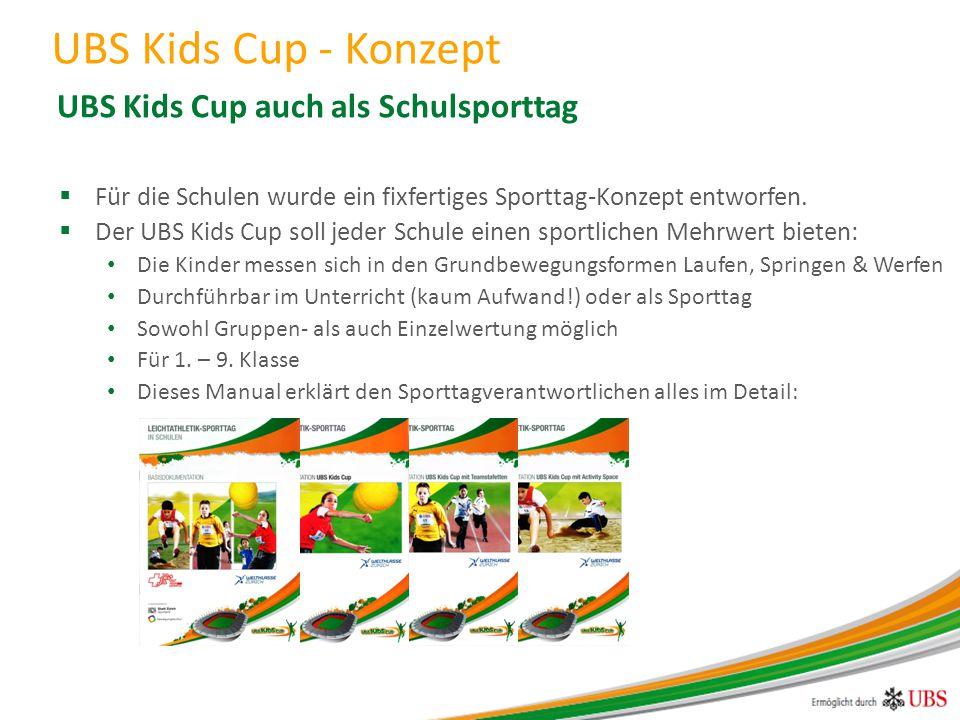 UBS Kids Cup auch als Schulsporttag
