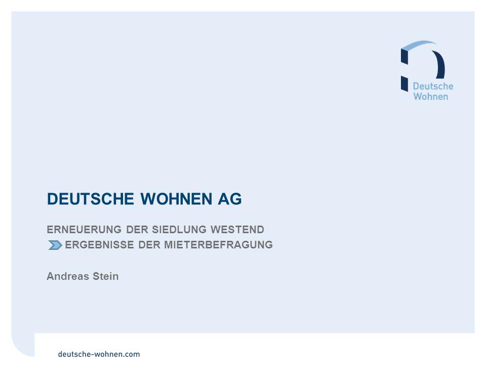Deutsche Wohnen AG Erneuerung der Siedlung Westend