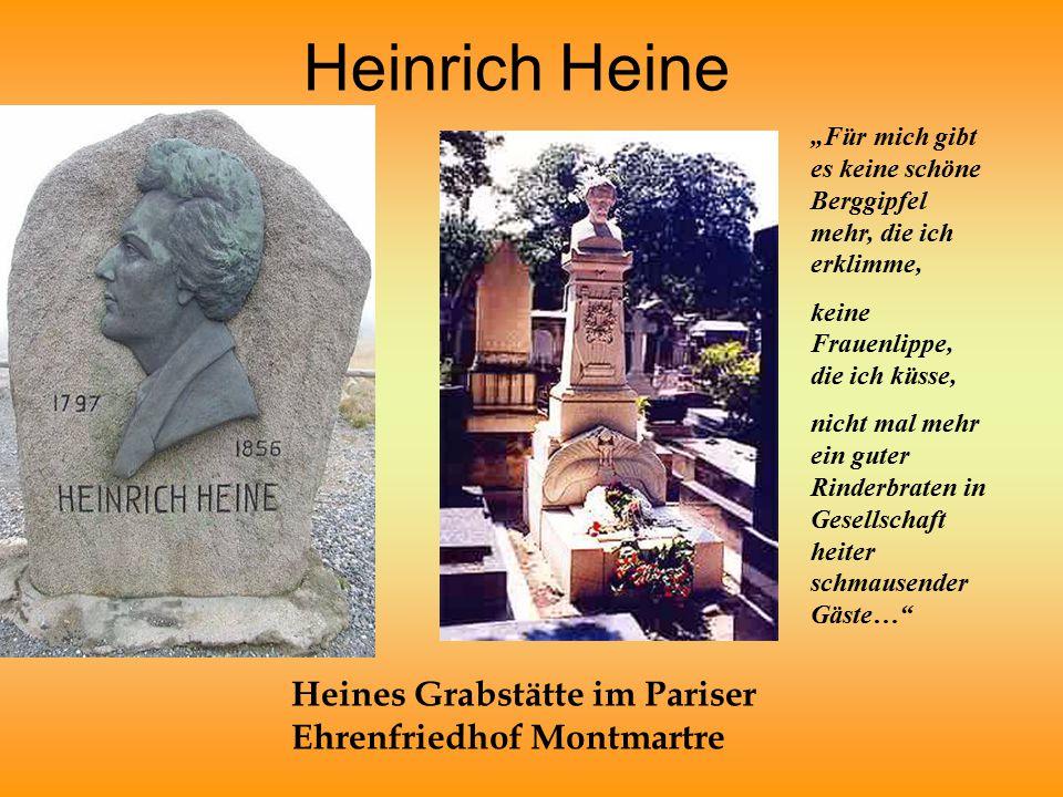 Heines Grabstätte im Pariser Ehrenfriedhof Montmartre