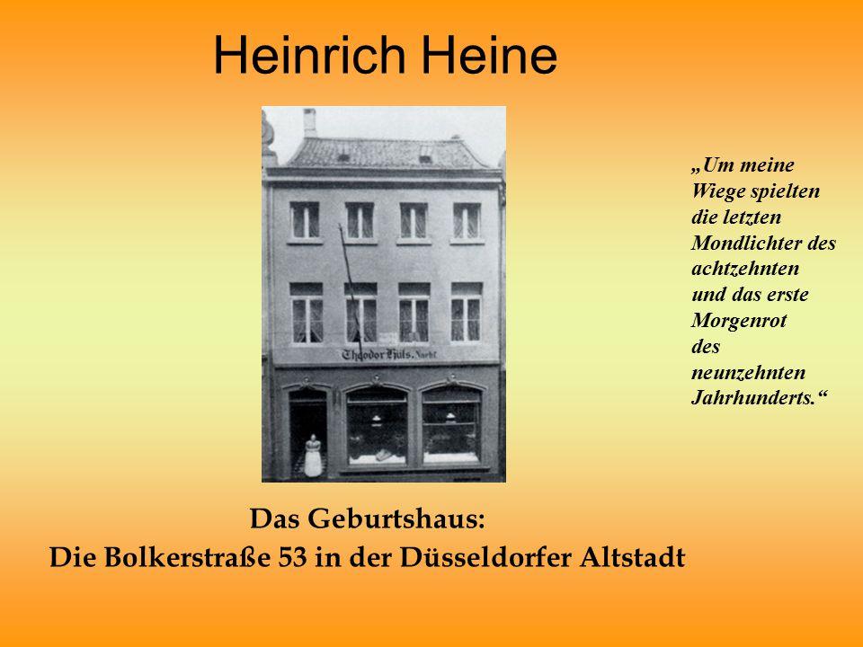 Das Geburtshaus: Die Bolkerstraße 53 in der Düsseldorfer Altstadt