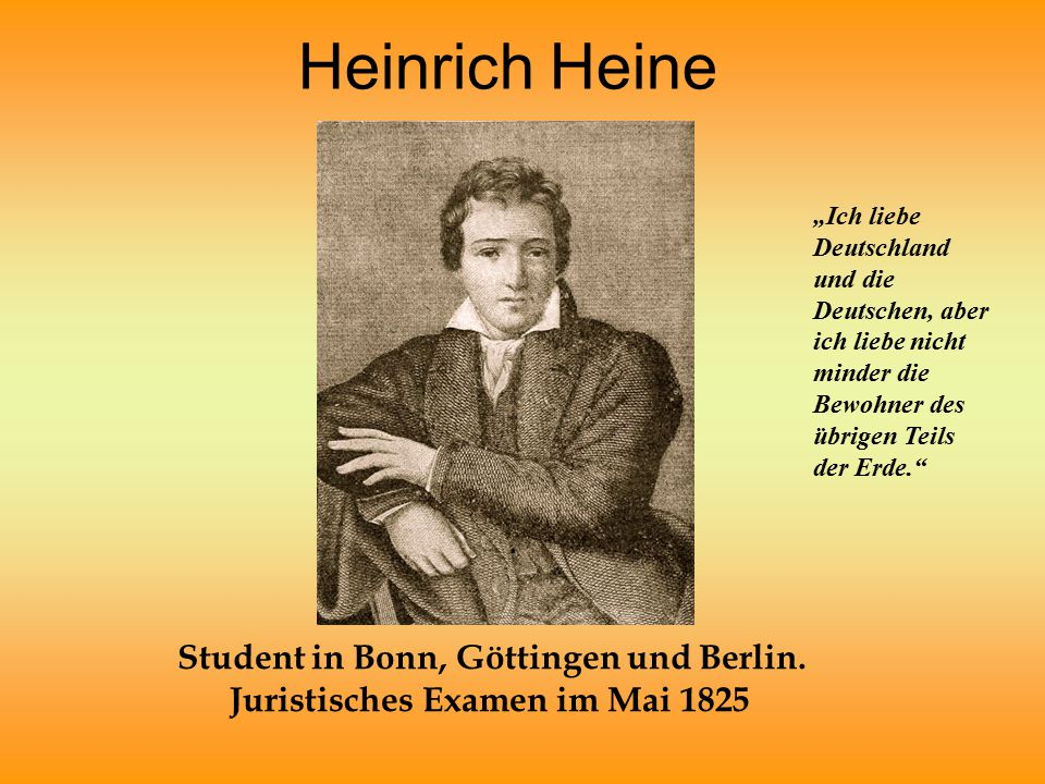 Student in Bonn, Göttingen und Berlin. Juristisches Examen im Mai 1825