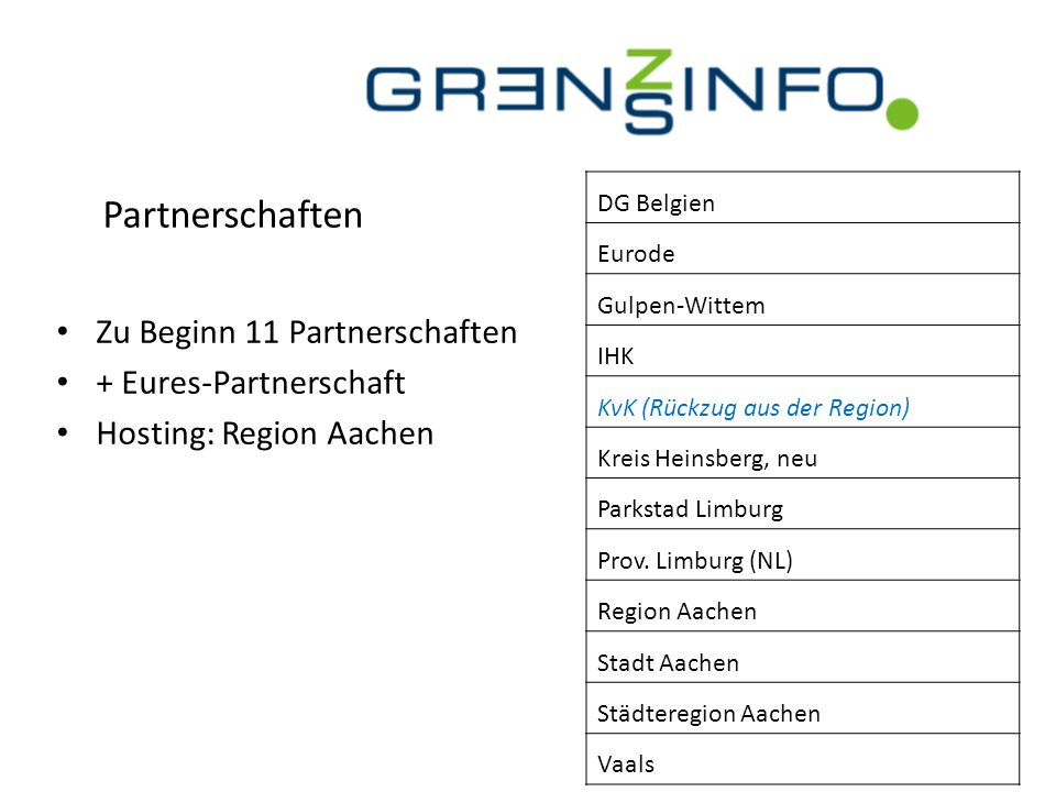 Partnerschaften Zu Beginn 11 Partnerschaften + Eures-Partnerschaft