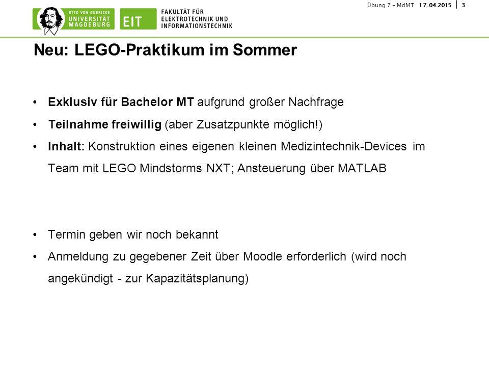 Neu: LEGO-Praktikum im Sommer