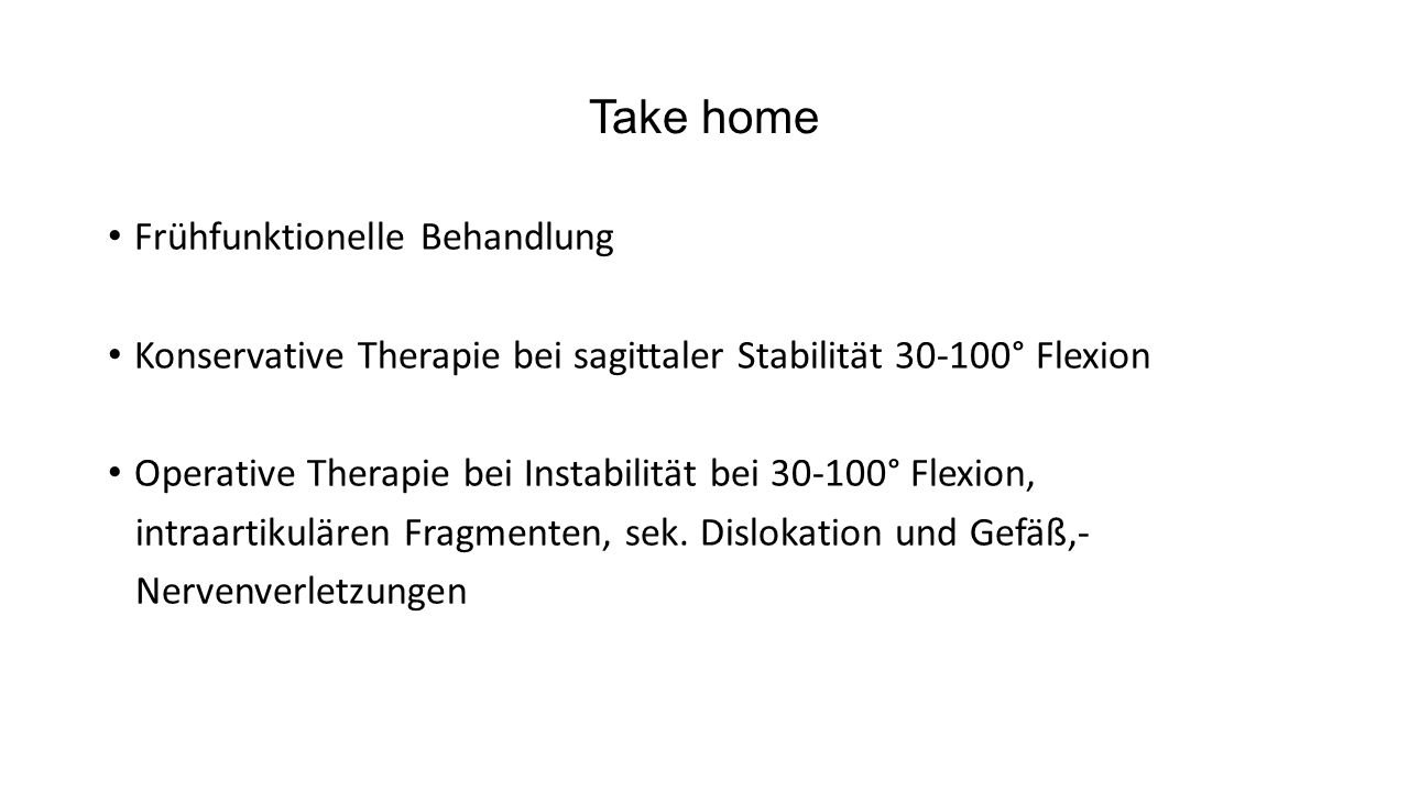 Take home Frühfunktionelle Behandlung