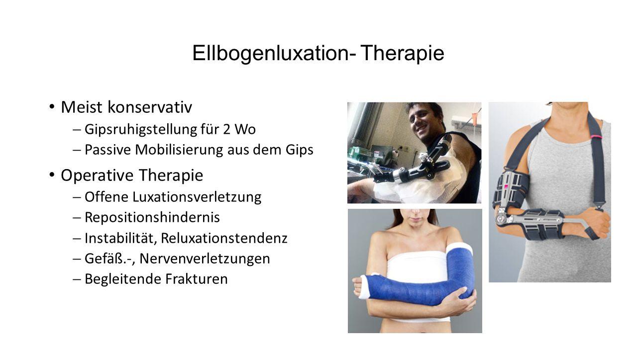 Ellbogenluxation- Therapie