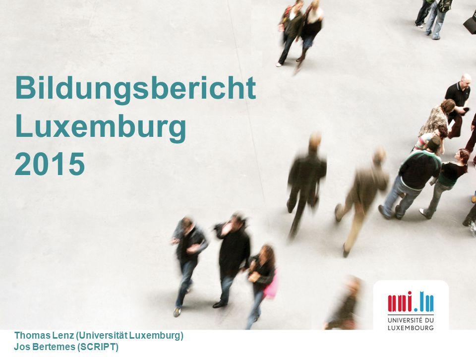 Bildungsbericht Luxemburg 2015