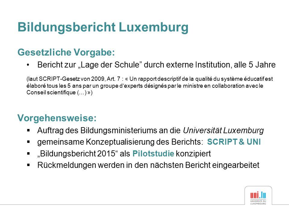 Bildungsbericht Luxemburg