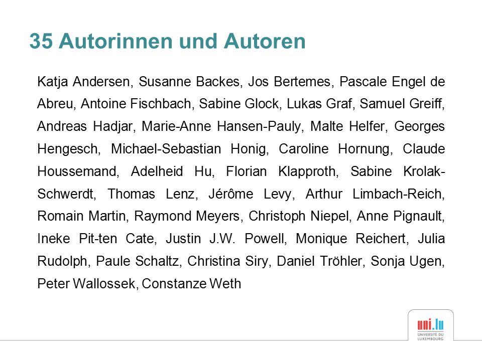 35 Autorinnen und Autoren