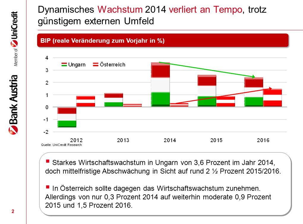 Dynamisches Wachstum 2014 verliert an Tempo, trotz günstigem externen Umfeld