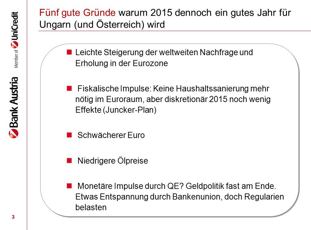 Fünf gute Gründe warum 2015 dennoch ein gutes Jahr für Ungarn (und Österreich) wird
