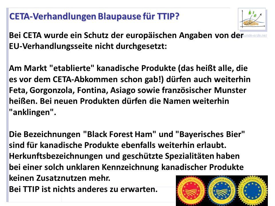 CETA-Verhandlungen Blaupause für TTIP