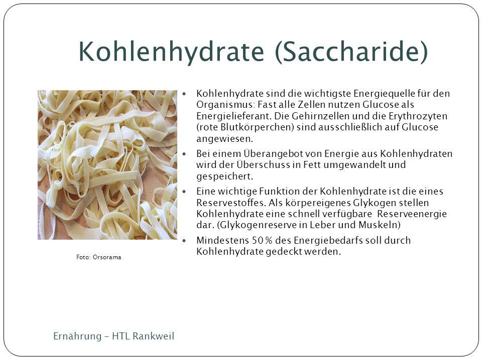 Kohlenhydrate (Saccharide)