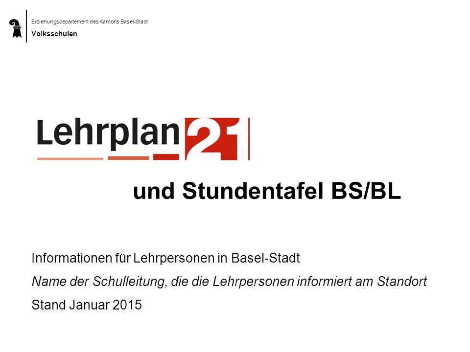 und Stundentafel BS/BL