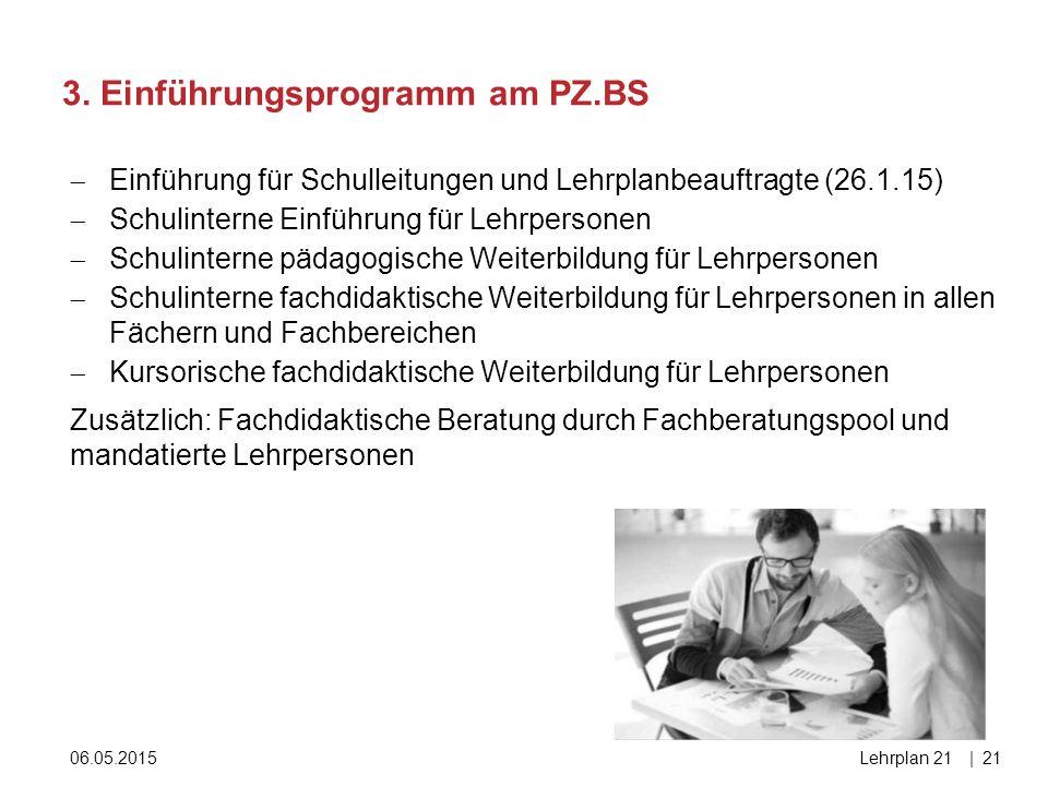 3. Einführungsprogramm am PZ.BS