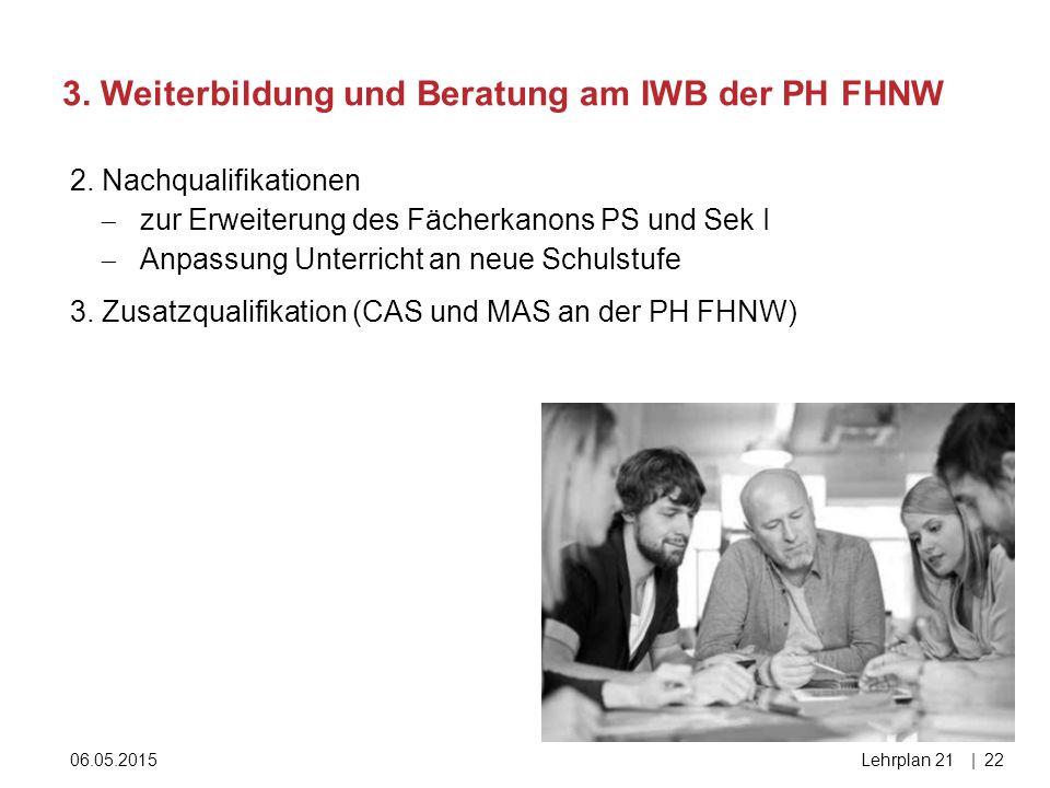 3. Weiterbildung und Beratung am IWB der PH FHNW