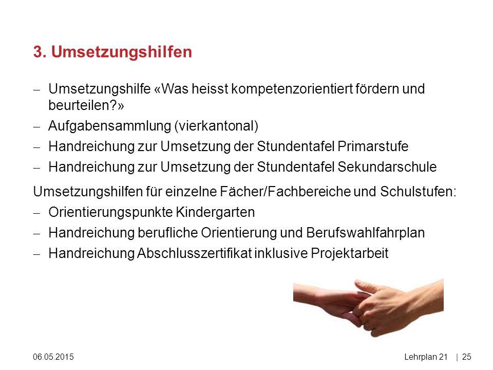 3. Umsetzungshilfen Umsetzungshilfe «Was heisst kompetenzorientiert fördern und beurteilen » Aufgabensammlung (vierkantonal)