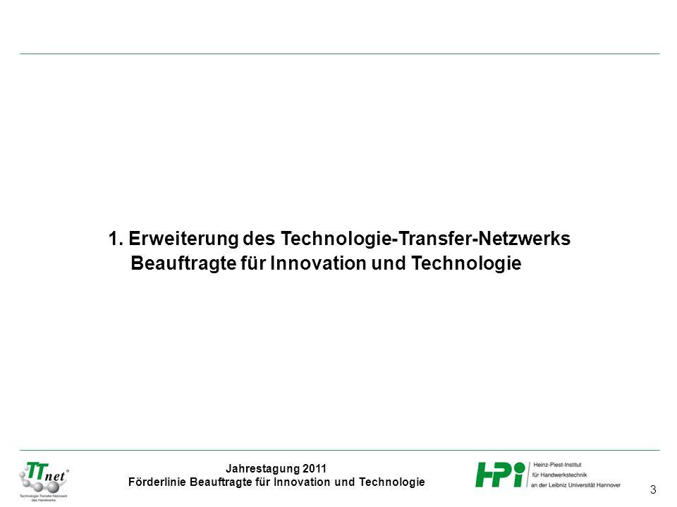 1. Erweiterung des Technologie-Transfer-Netzwerks