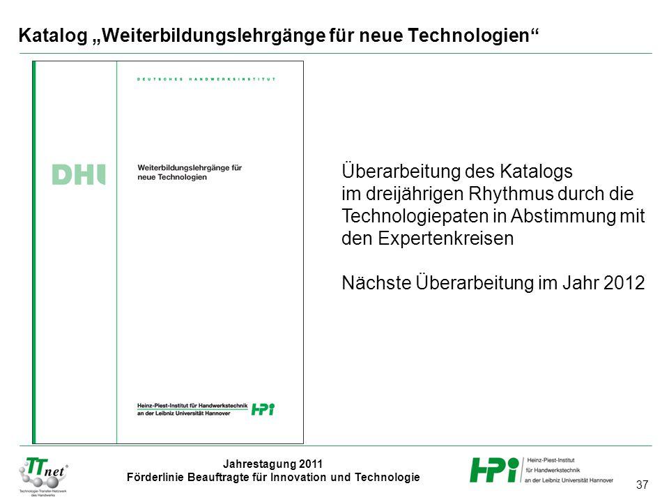 """Katalog """"Weiterbildungslehrgänge für neue Technologien"""