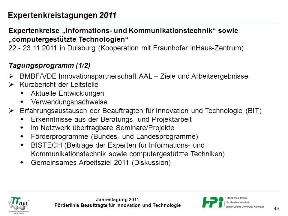 Expertenkreistagungen 2011