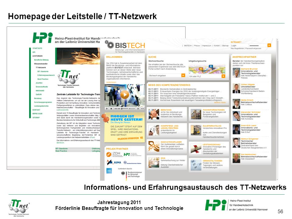 Homepage der Leitstelle / TT-Netzwerk