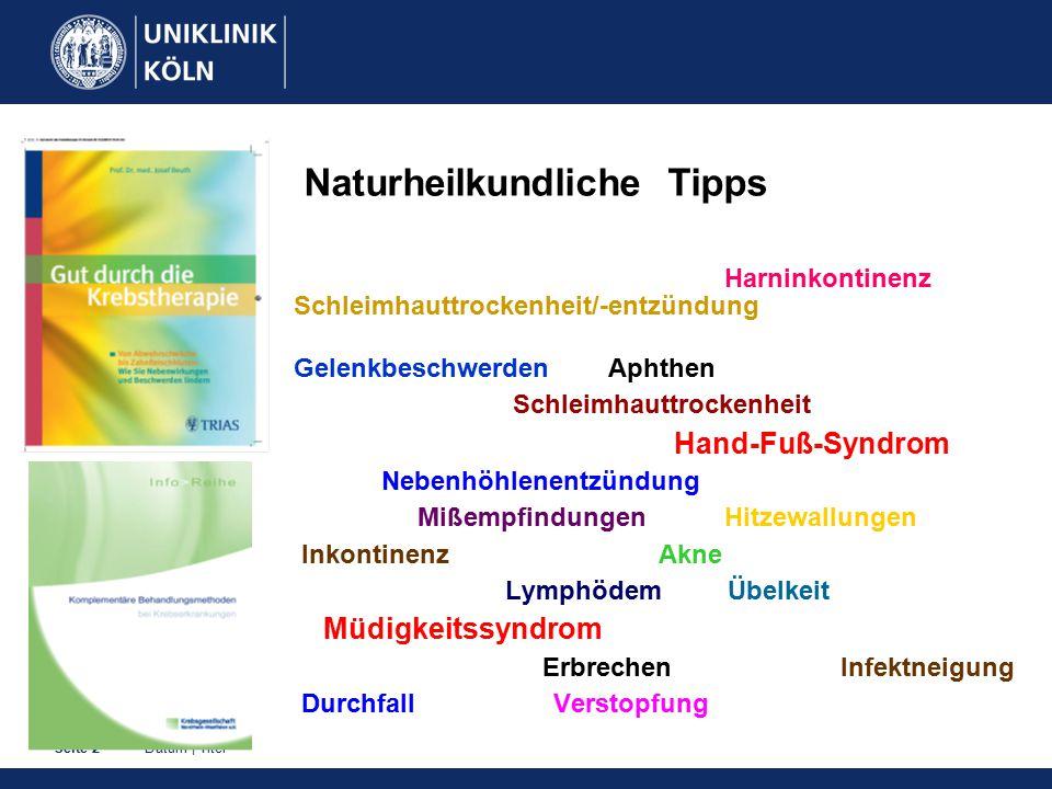 Naturheilkundliche Tipps