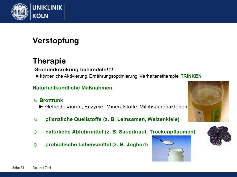 Verstopfung Therapie Grunderkrankung behandeln