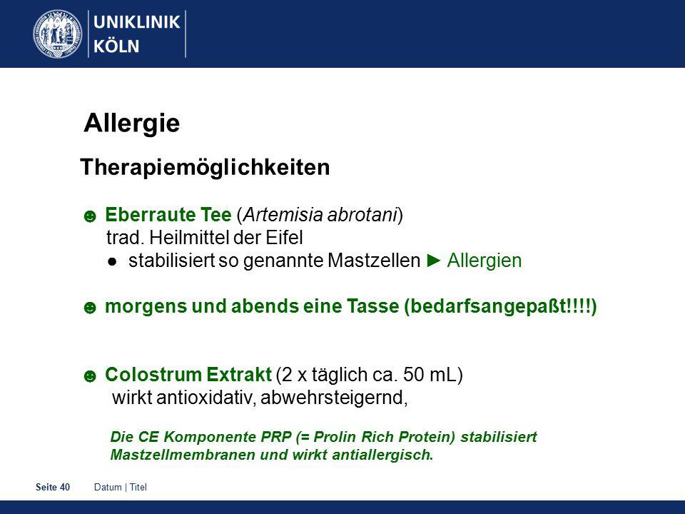Allergie Therapiemöglichkeiten ☻ Eberraute Tee (Artemisia abrotani)
