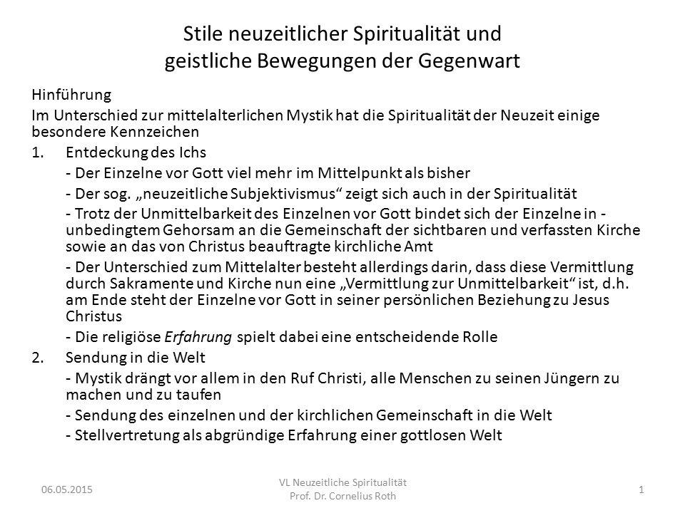 VL Neuzeitliche Spiritualität