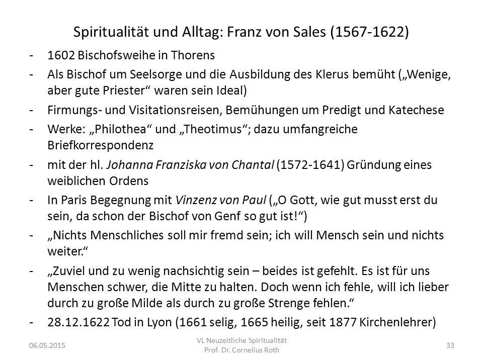 Spiritualität und Alltag: Franz von Sales (1567-1622)