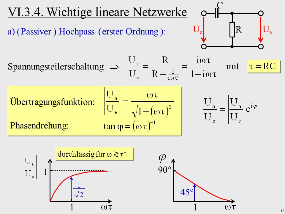 VI.3.4. Wichtige lineare Netzwerke
