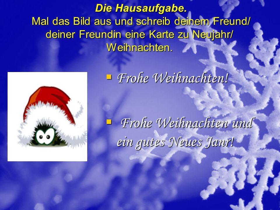 Frohe Weihnachten und ein gutes Neues Janr!